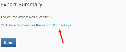 Selecting to download as Zip package