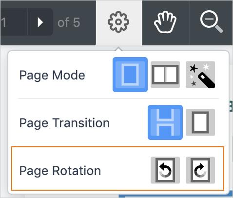 Selecting Page Rotation